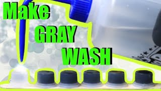 How To Make👉 BLACK And GRAY WASH For TATTOOING 👈 Black Ink And Distilled Water = Gray Wash✅