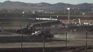 Trophy Truck Crash At Lake Elsinore  Lucas Oil Off Road Racing Series