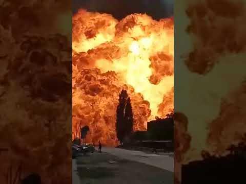 Серноводск Чеченская республик#взрыв цистерны с газом