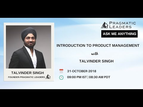 Introduction to Product Management with Talvinder Singh ... - YouTube