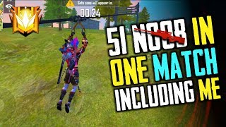 51 Noob in 1 Match Including Me - Garena Free Fire- Total Gaming