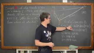 Trigonometry Bearing Problems Navigation 4 Examples