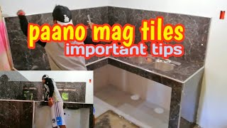 Kitchen Countertop With Sink Paano Mag Tiles..