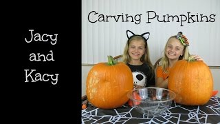 Halloween Pumpkin Carving  ~ 2014 ~ Jacy and Kacy