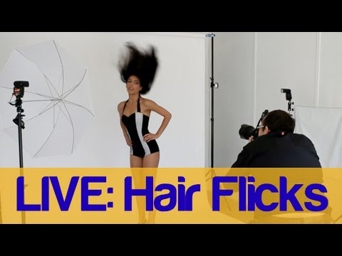LIVE Photoshoot - Hair Flicks