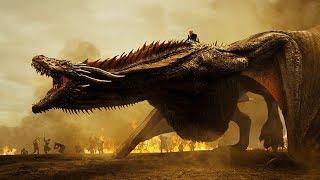 Дракарис! Дейнерис летает на драконе и сжигает всё.Битва с Ланнистерами. (Осторожно, спойлеры) S7e4