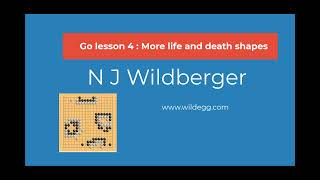 Go Lesson 4: More life and death shapes | Playing Go | N J Wildberger