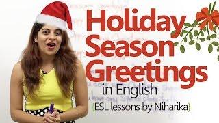 English Lesson - Holiday Season Greetings ( Learning English Speaking)