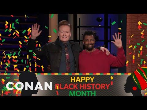 Deon Cole Helps Conan Celebrate Black History Month – CONAN on TBS