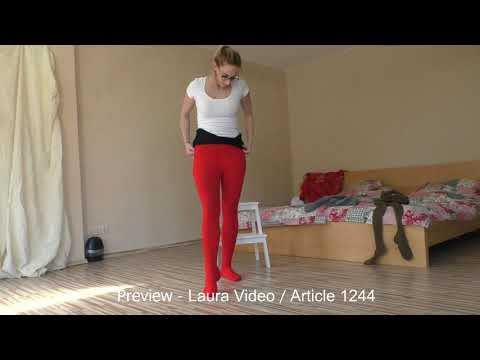 Lauras Strickstrumpfhosen / Trailer Video 1244