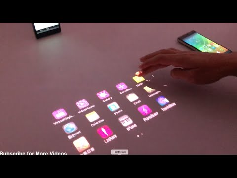Video Lenovo Smart Cast: Laser Projection Smartphone Demo and Overview