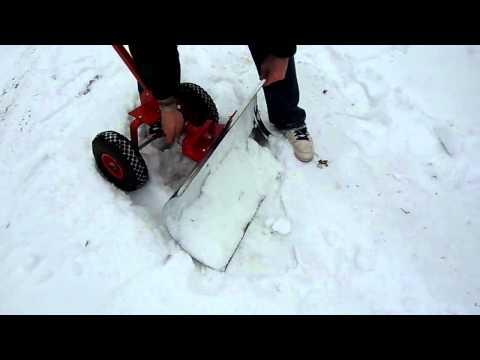 Schneeschieber Schneeschaufel Schneeschippe mit Rädern Schneeschieber Modell Kübler KSP-06