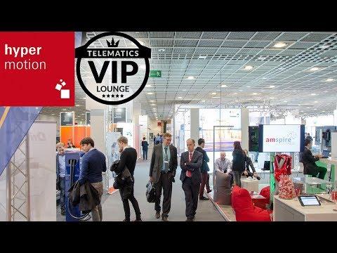 """Mit der Hypermotion schafft die Messe Frankfurt eine eigenständige nationale Vernetzungs-, Informations- und Diskussionsplattform mit internationaler Ausrichtung und Schaufensterfunktion für Wirtschaft, Wissenschaft, Gesellschaft und Politik für die Konvergenz von Mobilität, Logistik, Transport, Verkehr und Infrastruktur, in der die digitale Transformation das übergeordnete Leitthema darstellt. Zu den vielzähligen, starken Partnern der Messe Frankfurt bei diesem spannenden Projekt zählt auch die Mediengruppe Telematik-Markt.de. Auf der """"Telematics VIP-Lounge"""" stellten sich mit der LOSTnFOUND AG und der TachoEASY AG zwei geprüfte Anbieter der TOPLIST der Telematik dem internationalen Fachpublikum vor."""