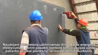Moderni Izoliacija: Fasado šiltinimas poliuretano plokštėmis (Montavimas)