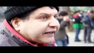 Mustafa, a Libyan protester, speaks out against UK arms exports