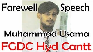 preview picture of video 'Muhammad Usama's Memorable Speech at F.G.Degree College, Hyd. Cantt.'