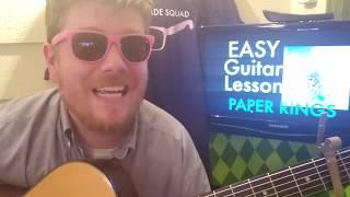 Taylor Swift - Paper Rings // easy guitar tutorial beginner lesson tabs easy chords