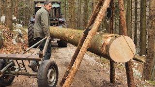 Building Off Grid Log Cabin - Ep 4 / Slow Progress is Better Than No Progress