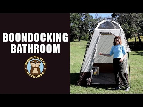 Boondocking Bathroom - Luggable Loo & Privacy Shelter