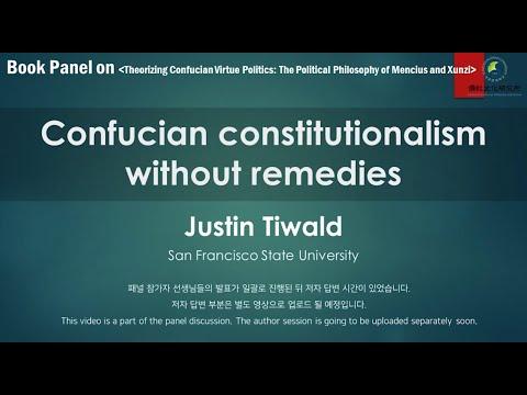 [국제학술대회] Justin Tiwald│20201114 Book Panel on