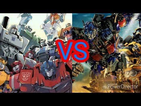 Transformers g1 vs movies