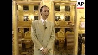 Hong Kong: Gold Toilet: 24-carat commodes
