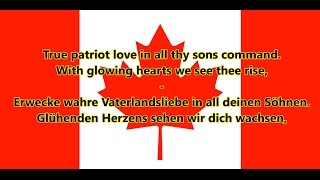 Nationalhymne Kanadas - Anthem of Canada (EN/DE Text)