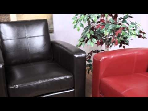 Video for Venus Cherry Eco Leather Club Chair