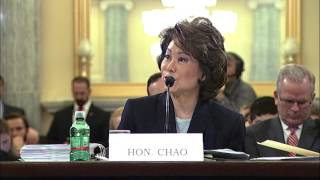 Senator Markey Questions DOT Secretary Chao on Airline Fees, Safety - June 7, 2017