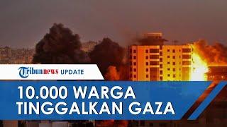 Israel Kian Brutal Serang Palestina, Sekitar 10.000 Warga Gaza Harus Tinggalkan Rumah Mereka