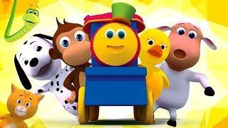 Bob o trem | Rimas de berçário para crianças | Vídeos de desenhos animados | Canções In