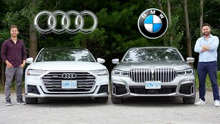 [Throttle House] 2020 BMW 7-Series vs Audi A8 // LIMO WARS