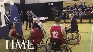 Prince William Plays Wheelchair Basketball With Paralympic Hopefuls As Kate Middleton Cheers | TIME