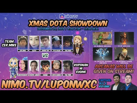 DOTA 2 CHRISTMAS SHOWDOWN! Team Cer.Mike vs Koponan ni Eugene!