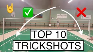 TOP 10 BADMINTON TRICK SHOTS - BadmintonExercises
