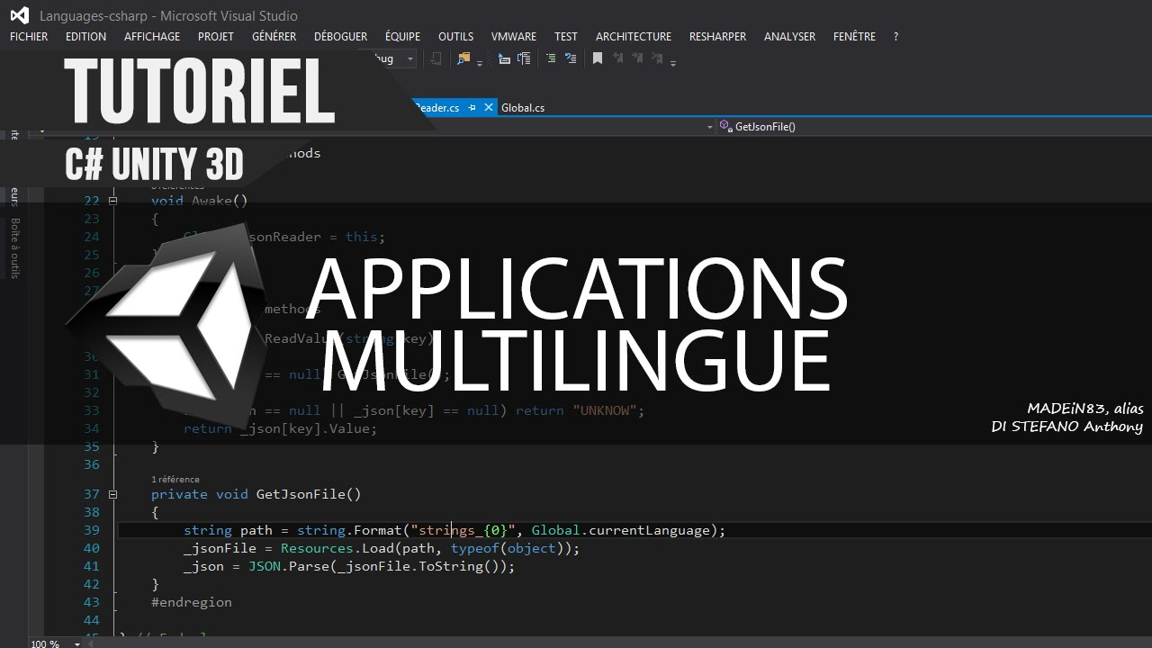 [C#][TUTO FR] Unity3D - Gérer une application multilingue