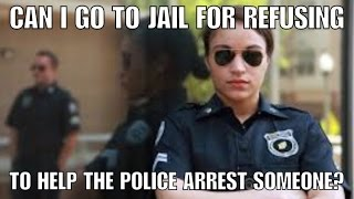 Can you be arrested in Alabama if you refuse to help a police officer arrest someone