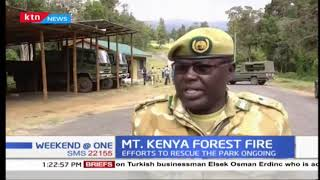 Helicopters deployed to assist in putting out the Mt. Kenya forest fire