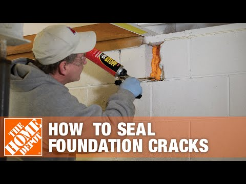 How to Seal Foundation Cracks With Great Stuff Spray Foam - The Home Depot