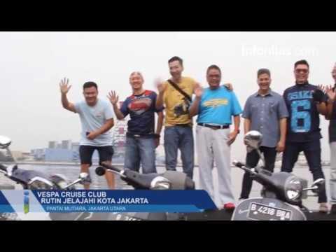 Vespa Cruise Club Rutin Jelajahi Kota Jakarta