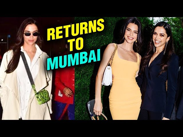 Deepika Padukone Returns From New York After Meeting Kendell Jenner | Youth Anxiety Center Dinner