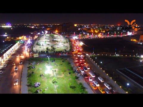 شاهد بالفيديو.. شاهد اجواء بصرية في ساحات وسطية #المربد