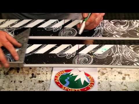 How to mount Bishop Telemark Ski Bindings to your ski