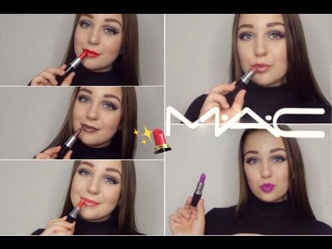 MAC Lipstick Collection + Lip Swatches / Popular Lipstick Shades