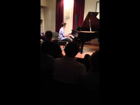 Intermediate student Juan G closes recital participation in Boca Raton FL 2013
