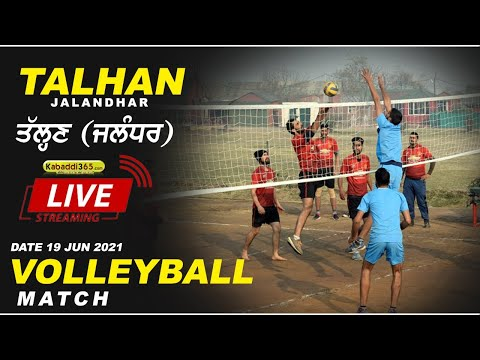 Talhan (Jalandhar) Volleyball Match 19 Jun 2021
