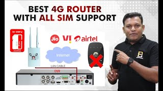 Best 4G LTE Router With All Sim Support With Live Demonstration   How to use 4G Routers