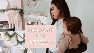 Modern/Boho Christmas Decorate w/me! Vlogmas Day 3