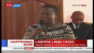 CS land Faridah Karoney tours Laikipia county to meet local leaders overs land cases