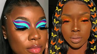 BLACK GIRL MAKEUP COMPILATION 👸🏾
